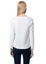 Fashion Double Zippers Long Sleeve Pullover White Sweatshirt