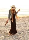 Mode hommes femmes Panama paille Sun Hat contraste ruban Couronne pincé roulé Trim plage Cap