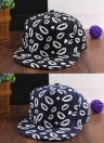 Moda coreana mujeres hombres tapa boca impresión luminosa béisbol sombrero gorra Hip Pop Unisex negro/azul oscuro