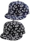 Koreanische Mode Frauen Herren Cap Mund Drucken leuchtende Baseball Hat Hip Pop Hut Unisex schwarz/dunkel blau