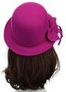 Neue Wollfilz Mode Frauen Fedora Hut Bowknot Dekoration Bowler Derby Hut Cap