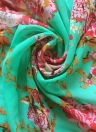Fashion Floral Print Tassels Fringe Chiffon Semi-sheer Kimono