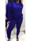 Рубашка с длинными штанами вскользь для женщин Комплект из двух частей
