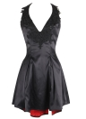 Women Retro A-Line Dress Halter Rockabilly Party Mini Swing Dress