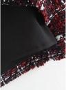 Minifalda de cuadros de mujer falda de línea A-Line falda