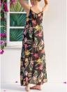 Women Floral Maxi Dress Sleeveless Side Pocket Beach Bohemian A-Line Dress