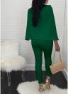 Cape V Neck Buttons Jumpsuit sin mangas sin mangas de las mujeres