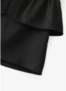 Faldas de perlas de cintura alta de mujer falda elegante delgada con pliegues de color sólido