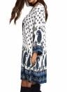 Vestido mini flojo de Paisley de las mujeres del vestido flojo ocasional de los bolsillos ocasionales