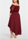 Женское платье для вечеринок плюс размер Кружева Scalloped Nightclub Платье Vestidos
