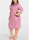 Платье Bodycon для женщин с длинным рукавом