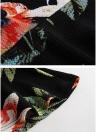 Floral Plaid Print Alta cintura Slim Bodycon Ruffled Mermaid Skirt