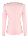 Frauen Slim T-Shirt Spitze Splice Long Sleeves Solid Color Top