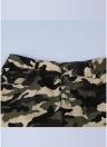 Mulheres Camuflagem Imprimir Lápis Calças Calças Meia Cintura Calças Calças