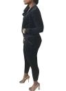 Women Two Piece Tracksuit  Zip Hoodie Sweatshirt Pants Sportswear Fitness Set
