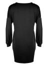 Vestido de mujer con cuentas de perlas Dropped Shoulder Lantern Cuff Casual Tuned Shift Dress