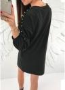 Женское платье из перламутрового вышитого бисером с капюшоном с капюшоном