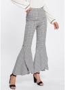 Pantalon à taille haute évasé