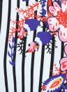 Saia Floral Mulheres Aberta Laço Lateral Frontal Saia De Praia Asiétrica De Cintura Elevada
