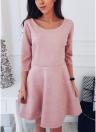 Mini vestido sin mangas con cuello en V de manga 3/4 con cuentas