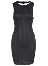 O Neck Sleeveless Cutout Back Party Bandage Bodycon Mini Dress