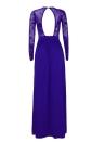 Sequin Sheer Mesh Split Backless Long Sleeve Maxi Dress