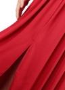 Robe maxi à manches longues à dos nu en maille transparente