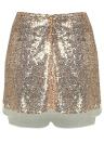 Falda corta con lentejuelas en punto alto con lentejuelas en lentejuelas de Sequin