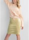Falda de Lentejuelas de Gamuza Mujeres Sexy Falda de Midi Bodycon de Split de Color Sólido