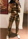 Женская верхняя часть и брюки с капюшоном с длинным рукавом