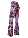 Women Flared Pants Geometric Print  Bell Bottom Wide Leg Pants Trousers
