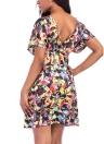 Женщины Плюс Размер Печать Мини-платье Летние Пляжи Плиссированные Платья