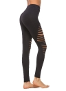 Pantalones de yoga Caderas Push Up Sports Medias de mallas