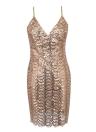 Женщины Sequin платье крест Backless Party Club Bodycon ремень Mini платье Vestidos