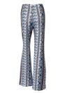Women Floral Print Wide Leg Pants High Waist Bell Bottom Flare Trousers