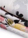 Mousseline de soie Floral Bohemian V Neck haute basse asymétrique Backless taille haute Maxi robe robe
