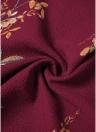 Bohemian Chiffon Floral Print Deep V Short Sleeve Slim Holiday Long Dress