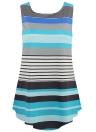 Manches courtes rayures colorées O-Neck Pockets Casual Mini robes élégantes