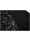 Sequin Deep V Neck Sleeveless Backless Split Dress