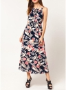 Bohemian Floral Sleeveless Dress Beach Strap Sundress Vestidos
