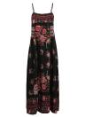 Vintage Bohemian Floral Maxi Dress Sleeveless Backless Sundress