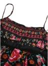 Vintage Bohemian Floral Maxi Платье без рукавов Backless Sundress