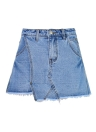 Denim Ripped Shorts Pantskirt Skorts Pockets Hot Pants Mini Pants