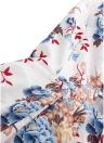 Boho Floral Print Casual Dress Spaghetti Strap Criss Cross Lacing Up Backless Dress