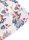 Boho Blumendruck Casual Dress Spaghetti Strap Criss Cross Schnürung Rückenfreies Kleid