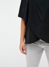 Plus Size Scoop Neck Short Sleeves Asymmetric Hem T-Shirt