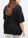 Plus Size U-Ausschnitt mit kurzen Ärmeln asymmetrischen Saum T-Shirt