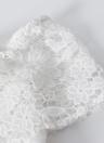 Crochet Floral Hors-la-épaule Floral évider Slim Mini robe élégante