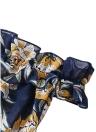 Boho Chiffon aus der Schulter Kleid Blumendruck Split Maxikleid