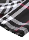 Xadrez verificado o pescoço meia manga slim midi vestido de uma linha